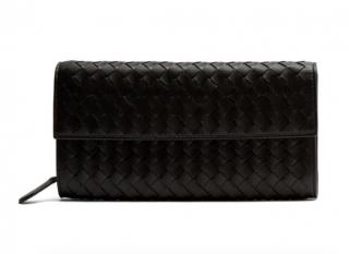 Bottega Veneta Intrecciato Leather Continental Waller