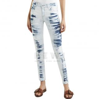 Stella McCartney Bleached Distressed Jeans