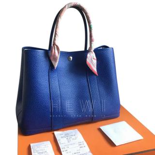 Hermes Blue Electric Garden Party 36
