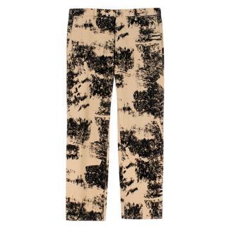 Issey Miyake Black & Beige Printed Men's Pants