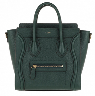 Celine Amazon Green Nano Luggage Tote