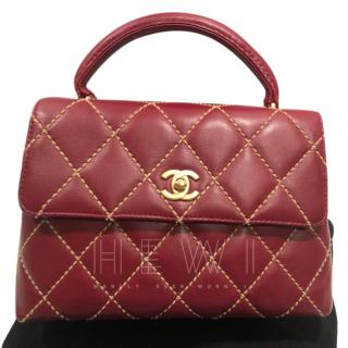 Chanel Cherry Quilted Kelly Bag