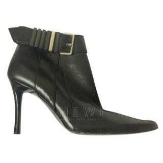 Bottega Veneta black buckle detail ankle boots