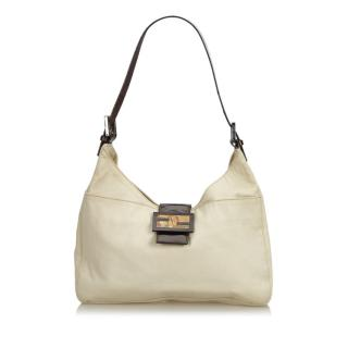 Fendi Beige Canvas Shoulder Bag