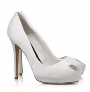 Alexander McQueen Heart Peep-Toe Satin Pumps