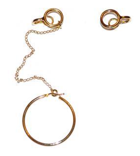 Stella McCartney Gold Hoop Asymmetric Earrings