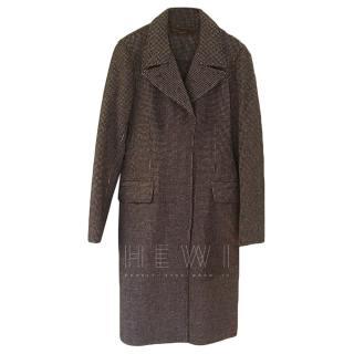 Loro Piana Black & White Cashmere Coat