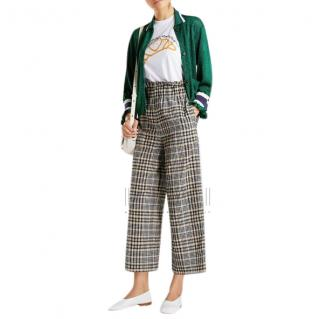 Ganni Charron Plaid Trousers