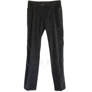Dolce & Gabbana Grey Velvet Pants