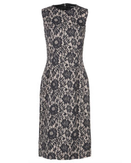 Dolce & Gabbana Lace Fitted Sleeveless Dress