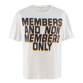 Stella McCartney Men's White Printed T-Shirt