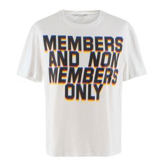 Stella McCartney Men's White Printed T-Shirt