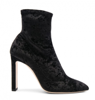 Jimmy Choo Crushed Stretch Velvet Louella Boots
