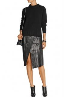 Belstaff Leather Pleated Beatrix Skirt