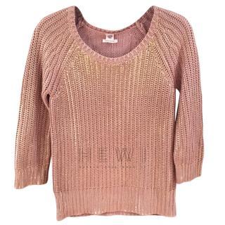 Hermes Metallic Knit Sweater