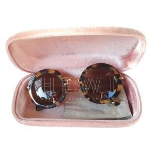 Miu Miu Round Havana Sunglasses
