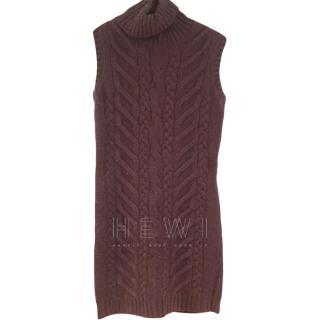 Loro Piana Short Cable Knit Cashmere Dress
