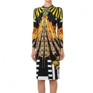 Givenchy Egyptian Print Silk Blend Dress