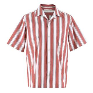 Stella McCartney Red & White Striped Men's Shirt