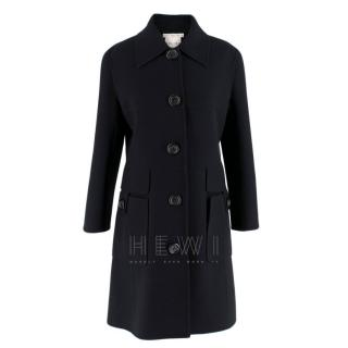 Celine Black Wool Tailored Coat