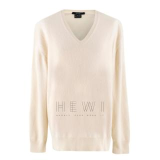Gucci Off-white V-Neck Cashmere Jumper