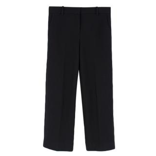 Helmut Lang Knit Black Textured Cropped Trousers
