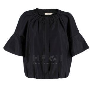 Prada Black Pleated Short Jacket