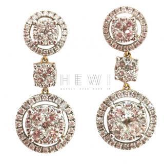 Ana Jakobs Halo Cluster Diamond Earrings