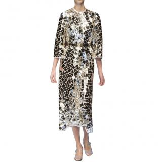 Dolce & Gabbana Mosaic Mirror Runway Dress