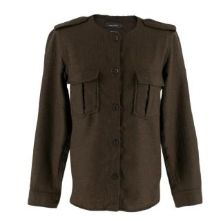 Isabel Marant Khaki Wool Button Up Shirt