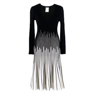 Marc Cain Black and White Jersey Knit A-Line Dress