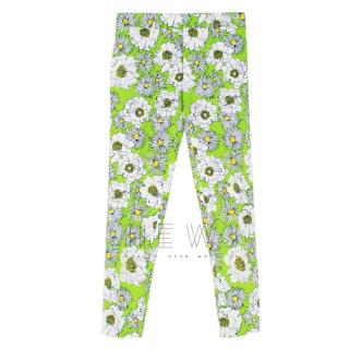 Prada Men's Green Floral Print Trousers