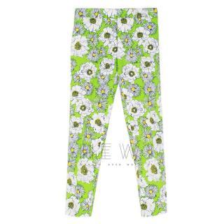 Prada Men's Green Floral Print Trousers