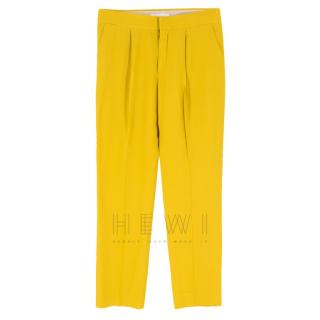 Chlo� Mustard Straight Leg Trousers