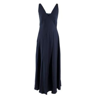 Polo Ralph Lauren Blue Satin Sleeveless Satin Dress