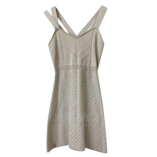 Philipp Plein Silk Blend Metallic Knit Dress
