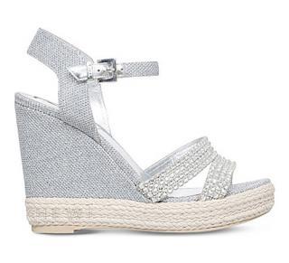 Gina Snoop crystal-embellished wedge sandals