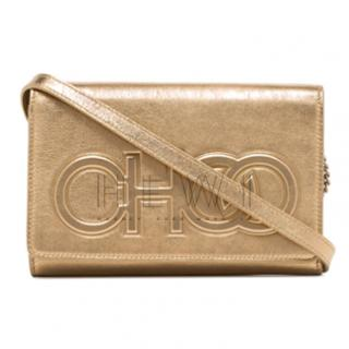 Jimmy Choo metallic Sonia leather cross body bag