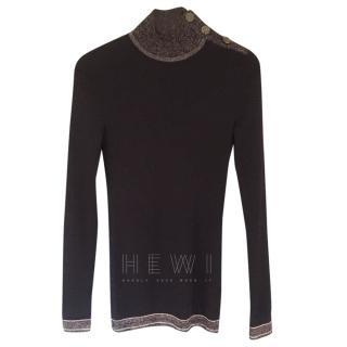 Chanel Cashmere Metallic Knit Jumper