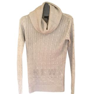 Ralph Lauren silver cowl neck sweater