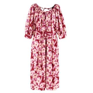 Joseph Floral Mumu Belted Maxi Dress