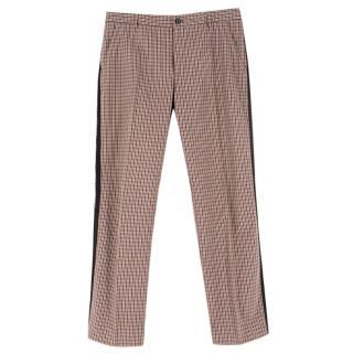 Etro Plaid Checked Cotton Trousers