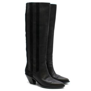 Golden Goose Deluxe Brand Black Leather & Suede Boots