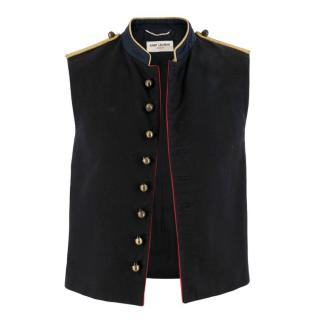 Saint Laurent Military Sleeveless Jacket