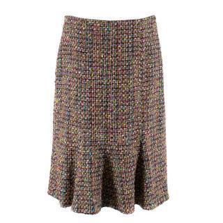 Caroline Charles Multi-Colour Tweed Godet Skirt
