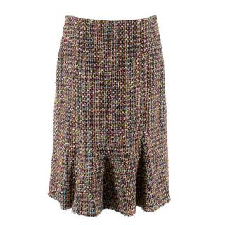 Caroline Charles Multi-Colour Tweed Godet Skirt