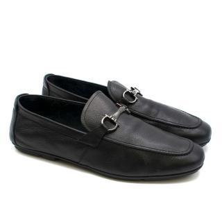 Salvatore Ferragamo Black Leather Loafers