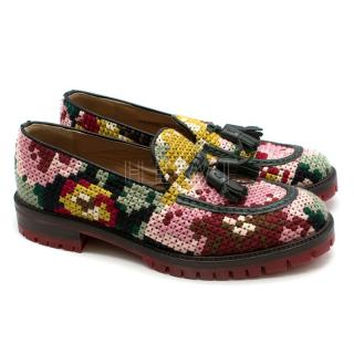 Fratelli Rosetti Mutli-Colour Crochet Loafers