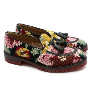 Fratelli Rosetti Mutli-Colour Crochet Loafers