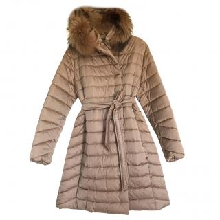 Max Mara Fur Trim Puffer Coat